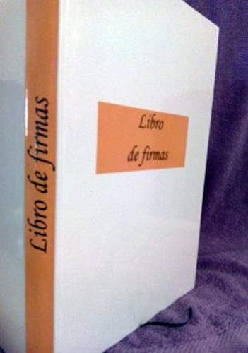 Libro de firmas color