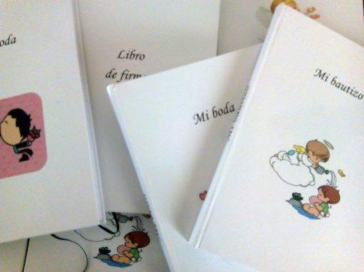 regalos originales,libros de firmas,libros personalizados,kit de encuadernacion