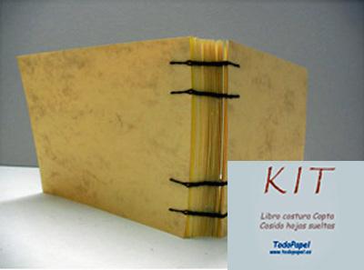 Kit libro cosido estilo Copto