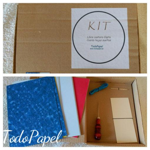 Kit libro cosido estilo Copto - Completo