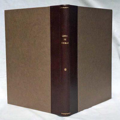 Libro Firmas en piel