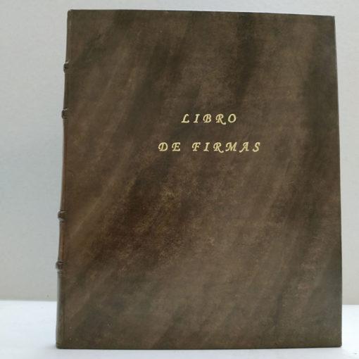 Libro de firmas en piel