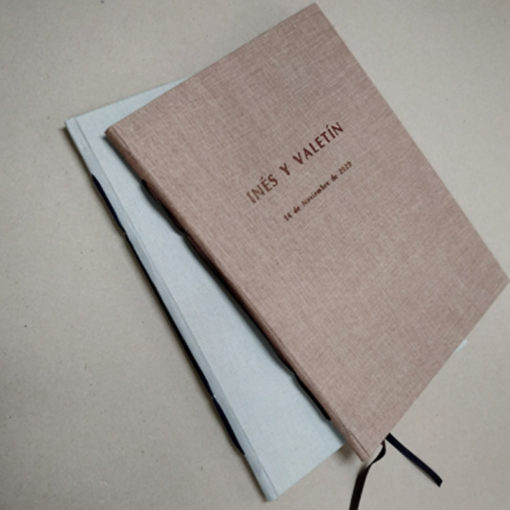Libro de firmas en tela - Artesanal